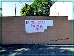 All you need is love - graffiti from the San Gabriel Valley